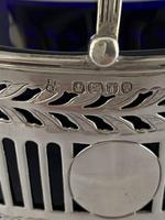 Small Victorian Antique Silver Sweet Basket & Liner 1886 Sheffield Sterling (11 of 11)