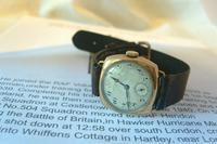 WW2 9ct Gold Longines Gentlemans Wrist Watch 1937 Hurricane Pilot Providence (5 of 12)