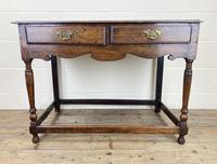 Antique Oak Two Drawer Side Table (13 of 14)