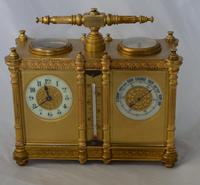 Carriage Clock Barometer Combination