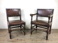 Set of Six Oak and Leather Dining Chairs (22 of 23)