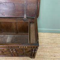 17th Century Oak Geometric Moulded Antique Coffer (6 of 7)