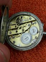 Antique Silver .800 Remontoir Cylindre 10 Rubis Case with Medusa Movement (5 of 6)