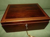 Georgian Inlaid Rosewood Jewellery / Table Box c.1825 (4 of 12)