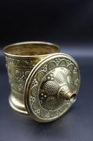 Attractive French Cast & Engraved Desk String Box (4 of 5)