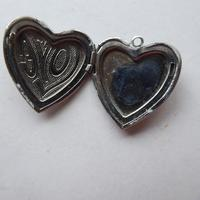 Heart Shaped Silver Locket - No Chain (5 of 8)