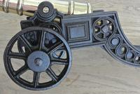 """Fine Pair of Early 20th Century 18"""" Brass & Cast Iron Toy Cannons Hall Cannons (8 of 11)"""
