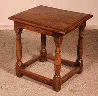 French Stool in Oak - 17th Century (6 of 10)