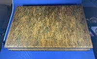 Edwardian French Leather Double book box with Backgammon set to the inside (7 of 14)