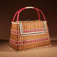 Art Deco Very Stylish Woven Wicker Willow Bag (2 of 7)