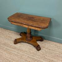Striking William IV Figured Mahogany Antique Card / Games Table (4 of 9)