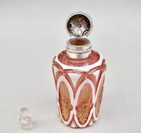 Fabulous Victorian Silver and Bohemian Overlay Cranberry Glass  Scent Bottle c.1890 (6 of 9)