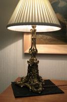 Rococo Gilt Brass Table Lamp (7 of 9)