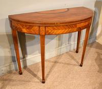 19th Century Kingwood & Satinwood Demi-lune Card Table (4 of 7)