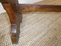 19thc Gothic Revival Oak Hall Bench (5 of 7)