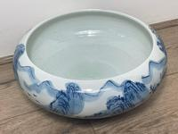 Interesting Chinese Meiping Qianlong Style Round Blue White Porcelain Bowl (4 of 26)