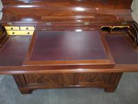 19th Century Figured Mahogany Cylinder Bureau Bookcase (7 of 12)