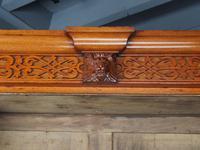 Antique Victorian Golden Oak Open Bookcase (6 of 20)