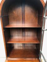 Antique Slim Figured Walnut Bookcase (5 of 12)
