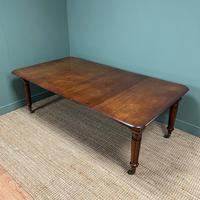 Large Stunning  Victorian Figured Mahogany Antique Wind Out Dining Table (6 of 9)