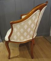 Louis XVI Style Tub Backed Armchair Newly Upholstery (4 of 9)