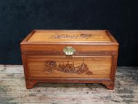 Early 20th Century Oriental Carved Teak and Camphor Wood Chest (12 of 12)