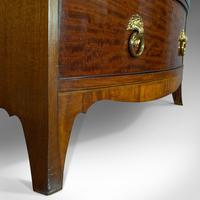 Antique Bow Front Chest of Drawers, English, Mahogany, Tallboy, Victorian, 1870 (8 of 12)