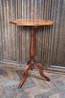 French Mixed Wood Octagonal Tripod Table (2 of 4)