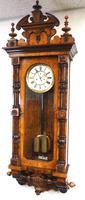 Rare Impressive Antique Burr Walnut 8-Day Twin Weight Striking Vienna Regulator Wall Clock by Gustav Becker (5 of 13)