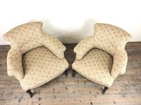 Victorian Three Piece Suite with Gold Floral Upholstery (19 of 26)