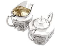 Chinese Export Silver Three Piece Tea Service - Antique c.1900 (12 of 12)