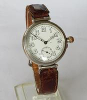 Antique Silver Longines Trench Watch 1918 (2 of 5)