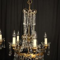 Italian Florentine Pair Of 5 Light Chandeliers (4 of 7)