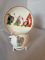 Early Worcester Chinoiserie Tea Bowl & Saucer (6 of 6)