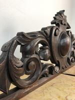 Antique French Pediment Walnut Panel Architectural Salvage Ciel De Lit (4 of 10)