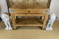 Early 20th c Butchers Block On Pine Stand (6 of 7)