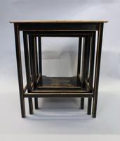 Edwardian Japanned Chinoiserie Nest of Tables (12 of 12)