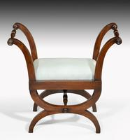 Pair of Early 19th Century Mahogany Framed Stools with Flared Uprights (3 of 6)