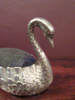 Large Edwardian Antique Silver Swan Pin Cushion (6 of 7)