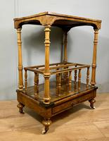Victorian Inlaid Walnut Canterbury What Not (8 of 11)
