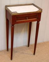 French Mahogany Marble Top Table (3 of 10)