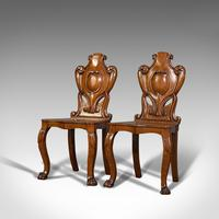 Pair of Antique Shield Back Chairs, Scottish, Oak, Hall Seat, Victorian c.1880 (7 of 12)