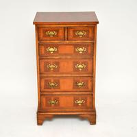 Georgian Style Yew Wood Chest of Drawers c.1940 (2 of 9)