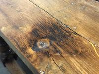 Very Early Oak Farmhouse Refectory Dining Table (19 of 31)