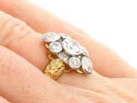 3.54ct Diamond & 18ct Yellow Gold Cluster Ring (8 of 9)
