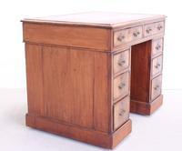 18th Century Mahogany Pedestal Writing Desk (4 of 12)