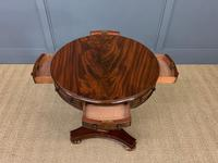 William IV Flame Mahogany Drum Table (5 of 9)