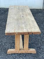 Large French Rustic Bleached Oak Farmhouse Dining Table (25 of 36)