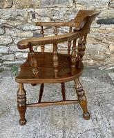 Antique Elm Captains Chair or Smokers Bow (4 of 14)