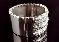 Antique Victorian Silver Bangle, Aesthetic Era, Boxed (5 of 17)
